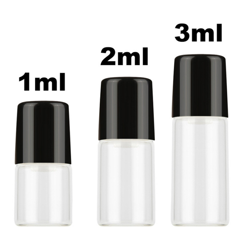 2ml 3ml 5ml mini glass roll on bottle