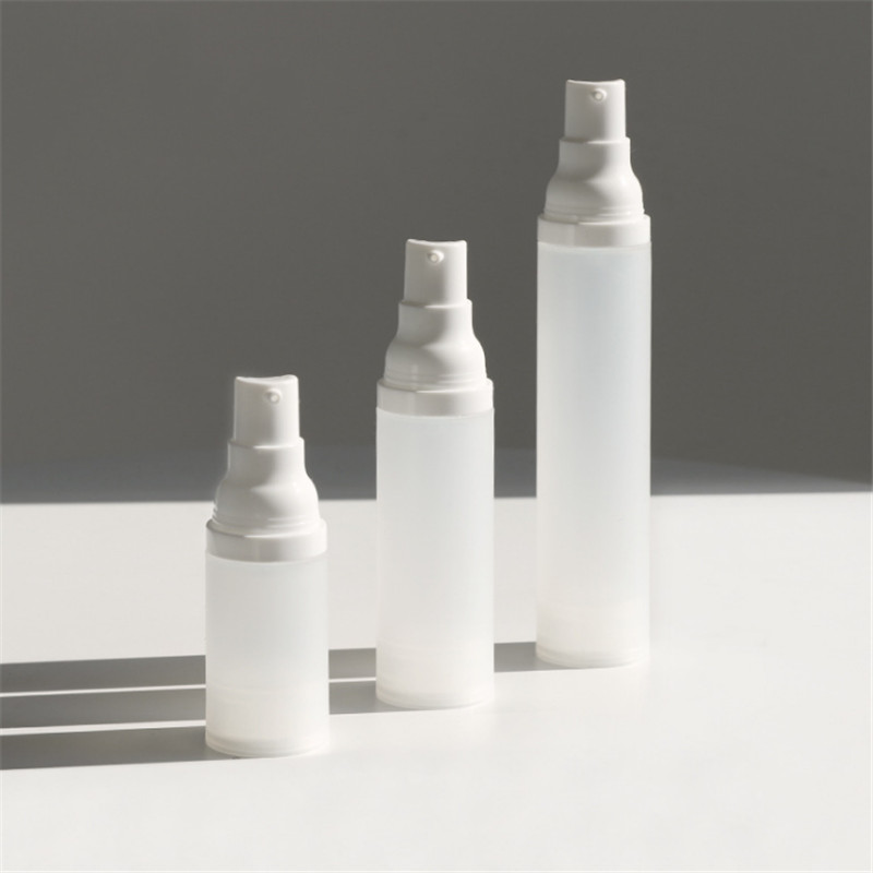 PP transparent frosted sprayer and lotion vacuum bottle
