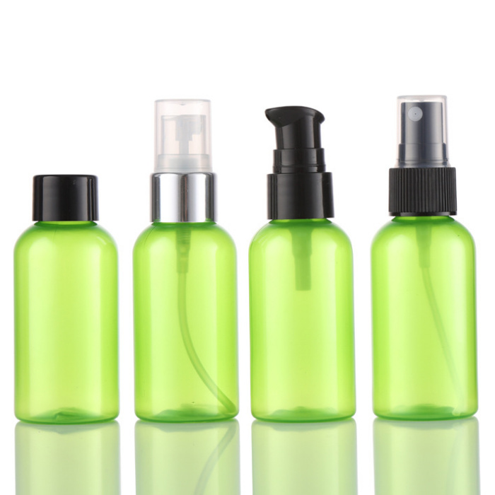 60ml green packaging ,wholesale PCR PET bottles